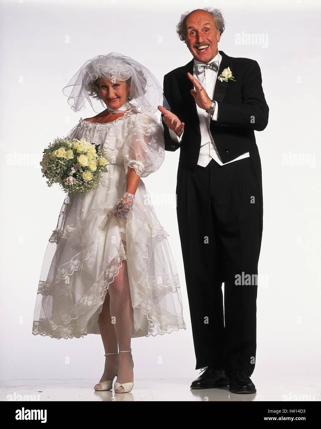 Braut und Bräutigam, Senioren, Geste, tanzen, clap, boss, kopieren ...