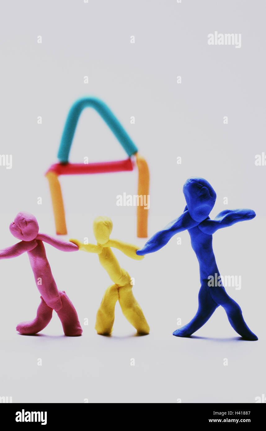 Plastilin Zeichen Haus Spielzeug Modelliermasse Teig Farben