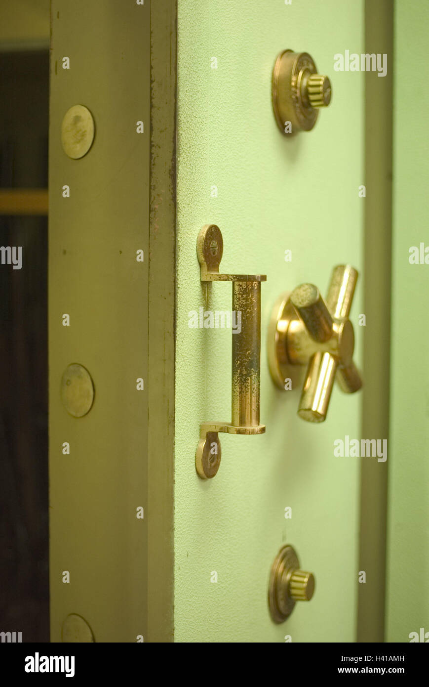 Tresor, Tür, Detail, Griffe, Schlösser Tresor Schrank, Safe, Schrank ...