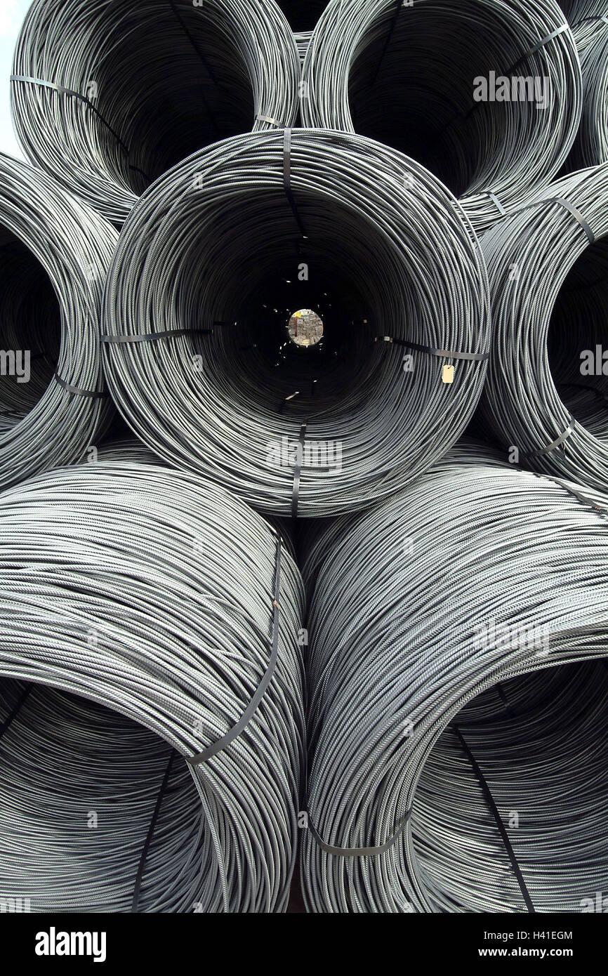 Eisenwerk, Runde Lauffläche bar Stahl Rollen aufgerollt, Lagerung ...
