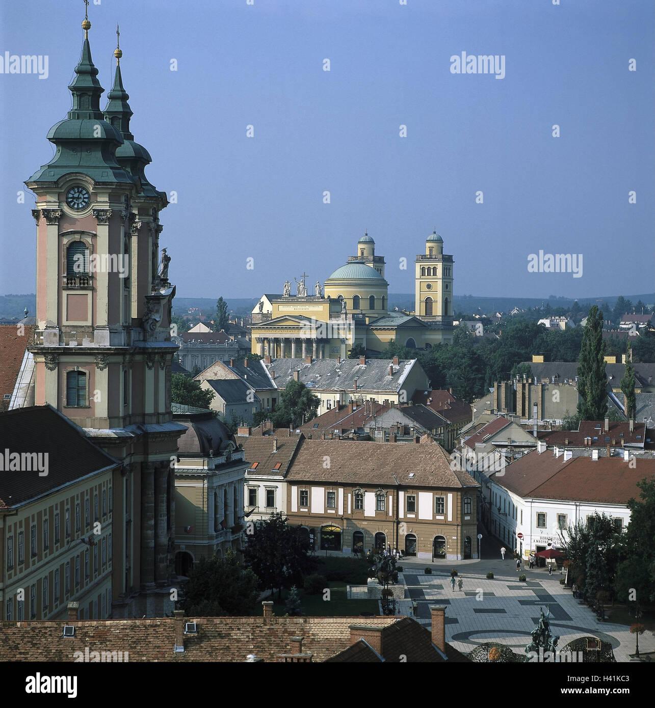 basilika minoritenkirche nord blick auf die stadt eger ungarn ungarisch erlau gebiets. Black Bedroom Furniture Sets. Home Design Ideas