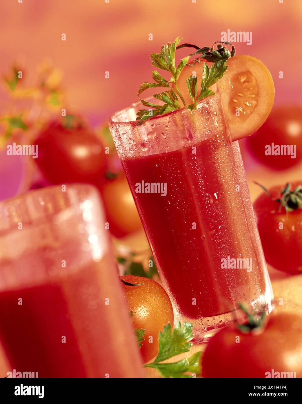 Gläser, Tomate Säfte, Tomaten Gläser, Tomatensaft, Gemüse ...