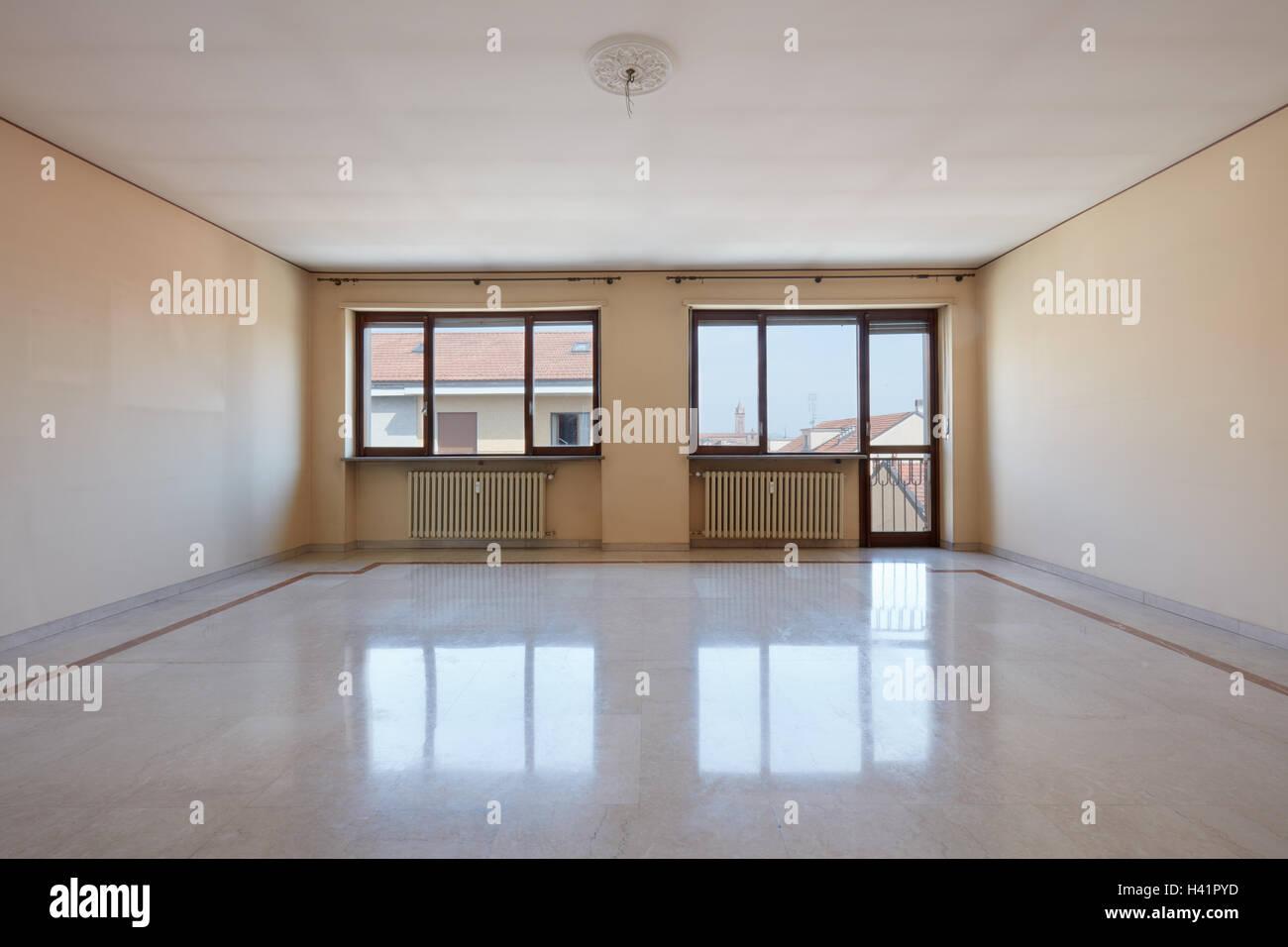 Leeren Wohnzimmer mit Marmorboden Stockfoto, Bild: 122971169 - Alamy