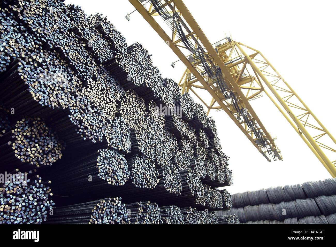 Hafen, Schiff, investieren, Eisenhütten, Lauffläche-Runde bar Stahl ...
