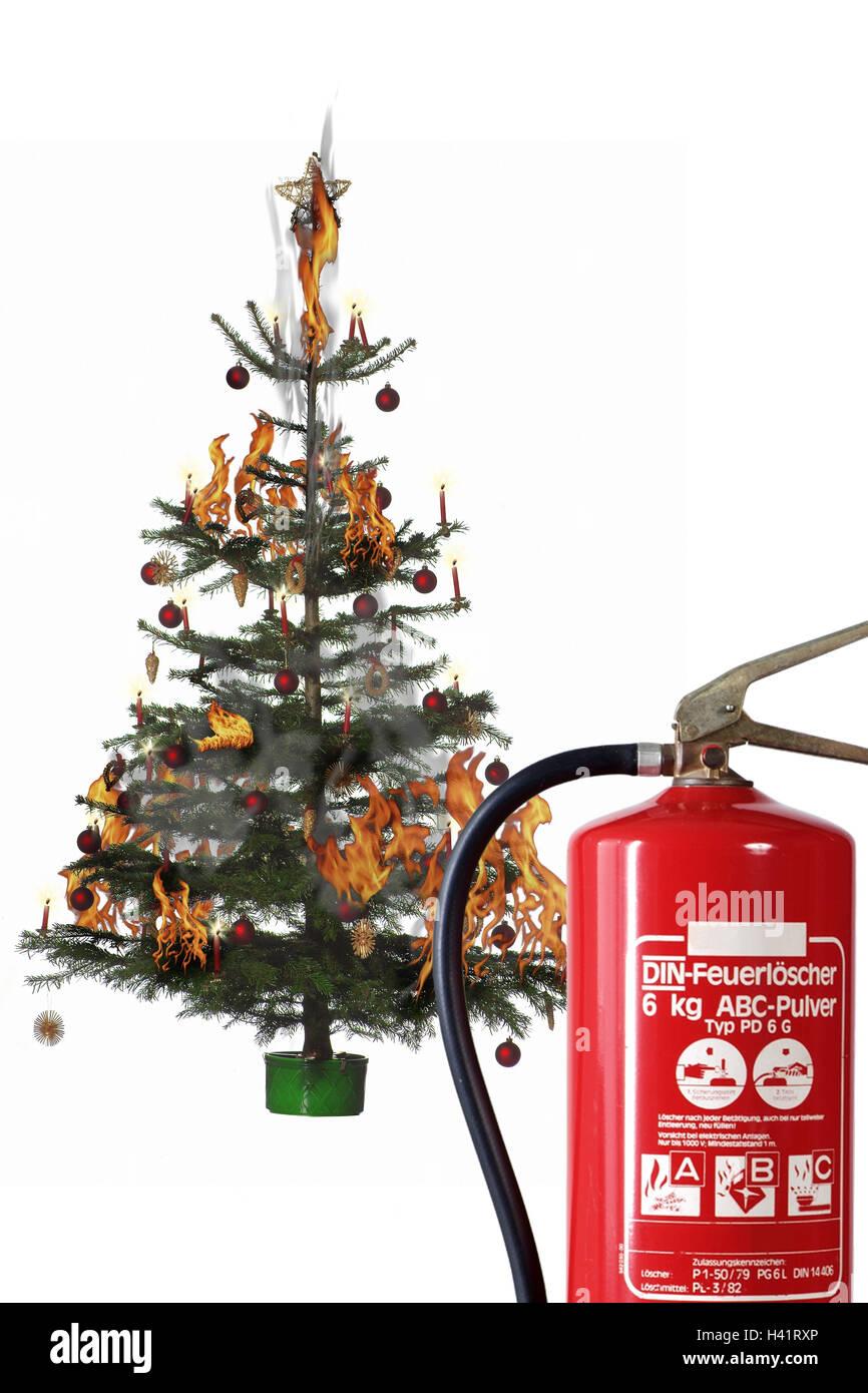Weihnachtsbaum Explodiert.Weihnachtsbaum Explosion Feuerlöscher Detail Weihnachten Yule