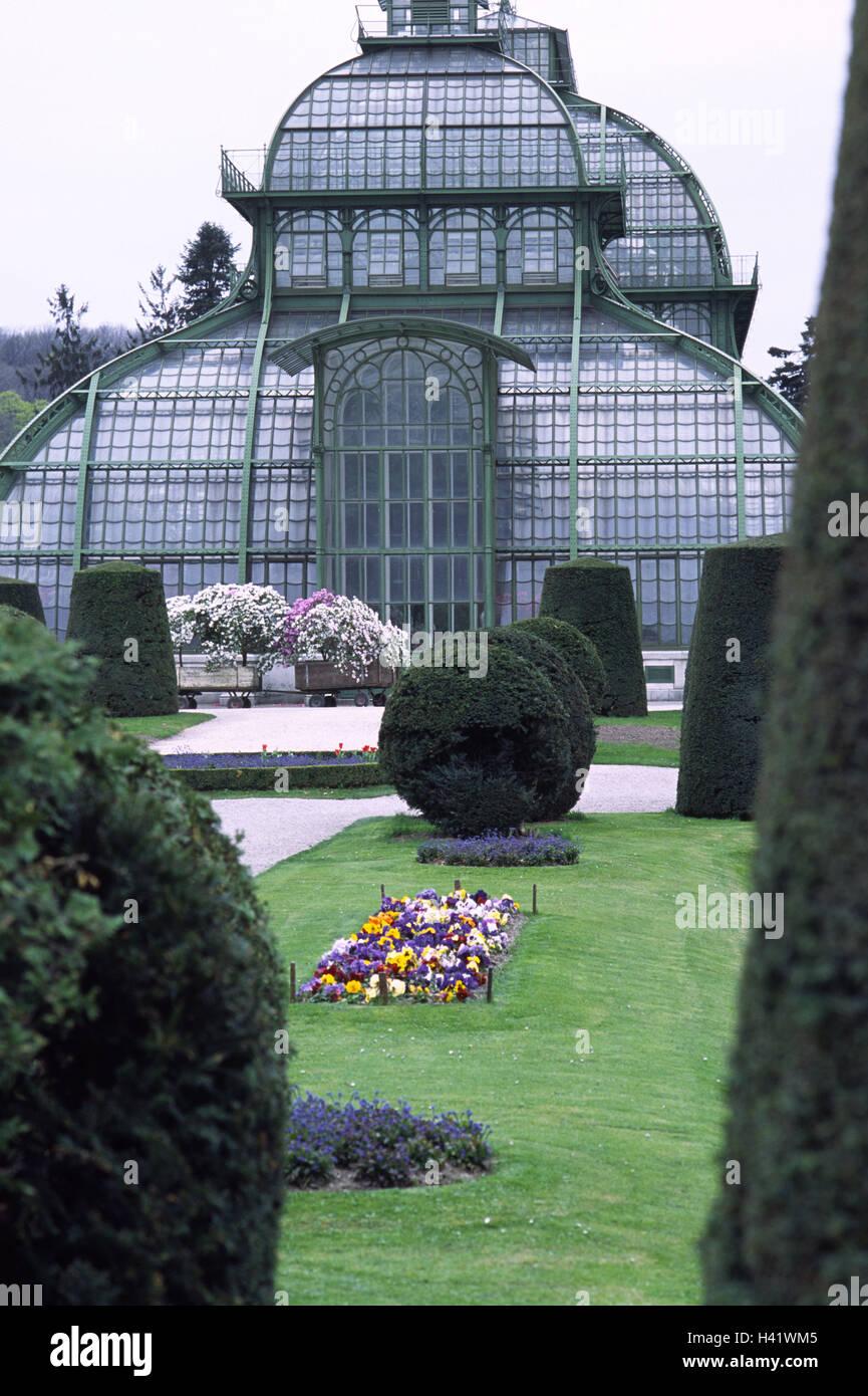 Garten Jugendstil österreich wien palm haus glas stahl bau garten europa