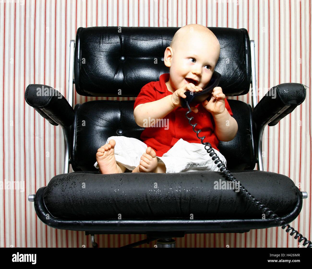 B rostuhl baby sit call up gl cklich geste empf nger for Ledersessel klein