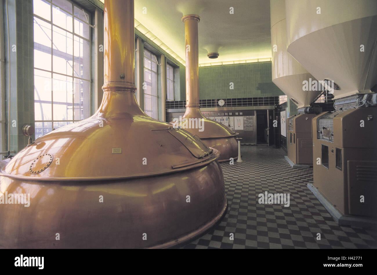 Deutschland, Hamburg, Bayern Stück Pauli, Brauerei, Abkochung Kessel ...