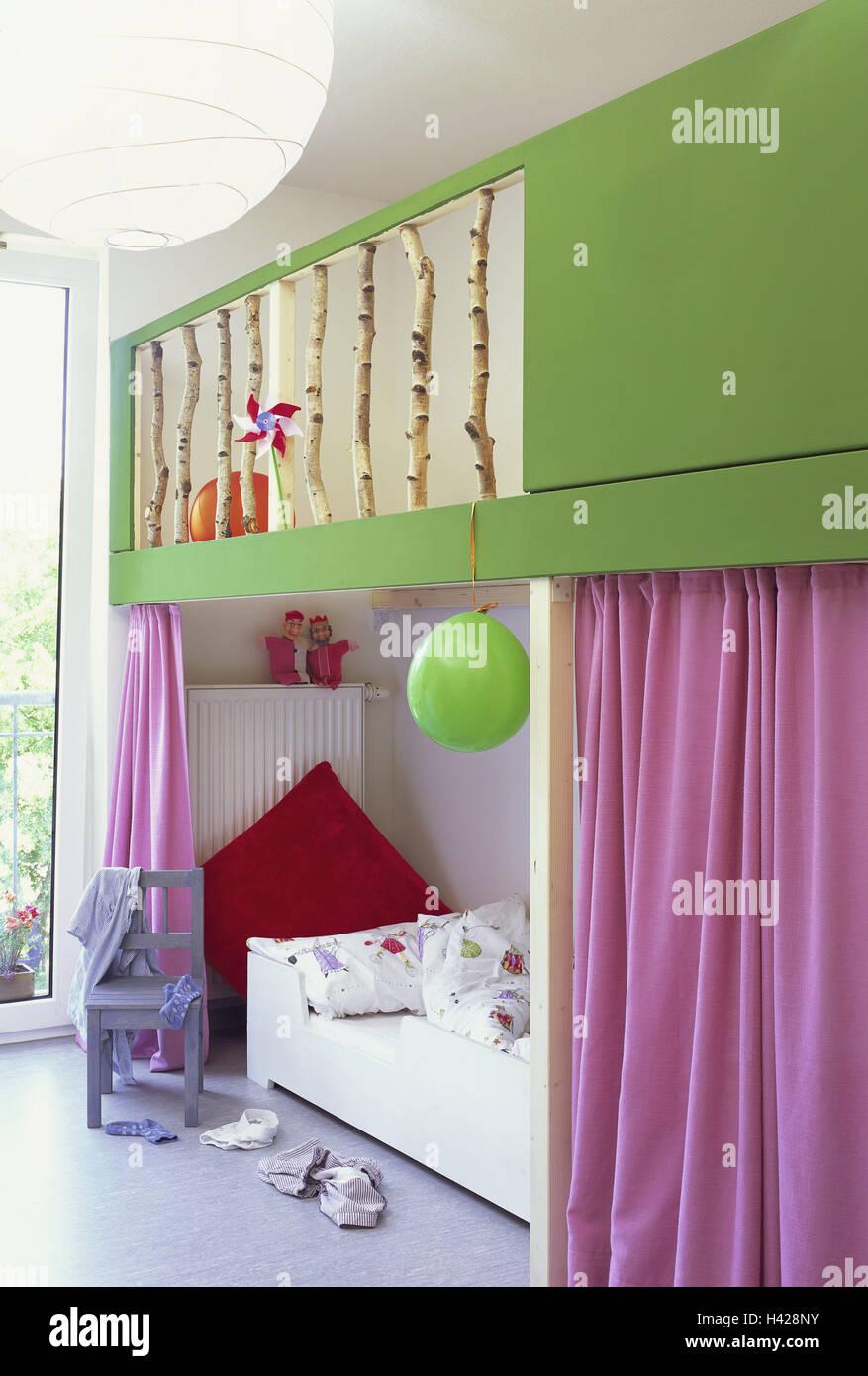 Kinderzimmer, Bett, Stuhl, Zimmer, Mädchenzimmer, Schlaf-Fach ...