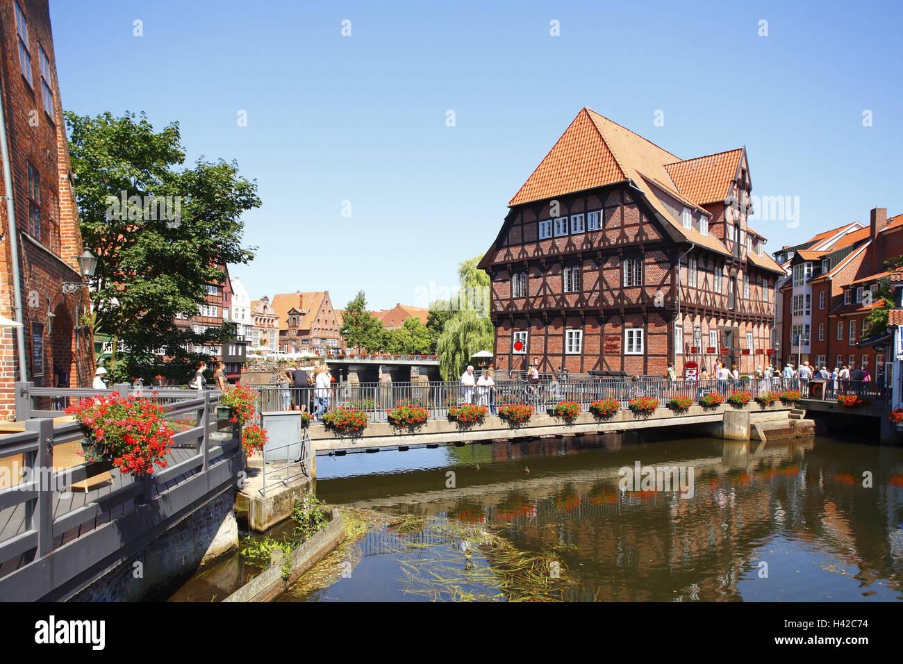 Lüneburg Stadt Fachwerkhaus Hotel Bergstroem in Ilmenau