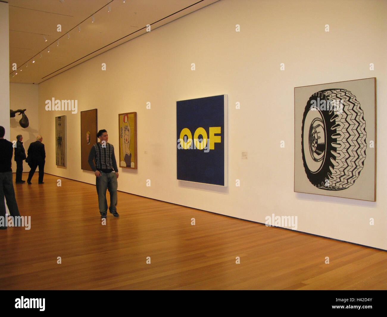 USA, New York City, Manhattan, MoMa, ausstellen, Pop-Art, Roy ...