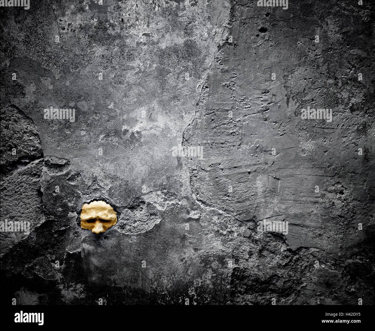 Mehr schlecht aussehen, Detail, Wände, Wand, Loch, Maske, Konzeption ...