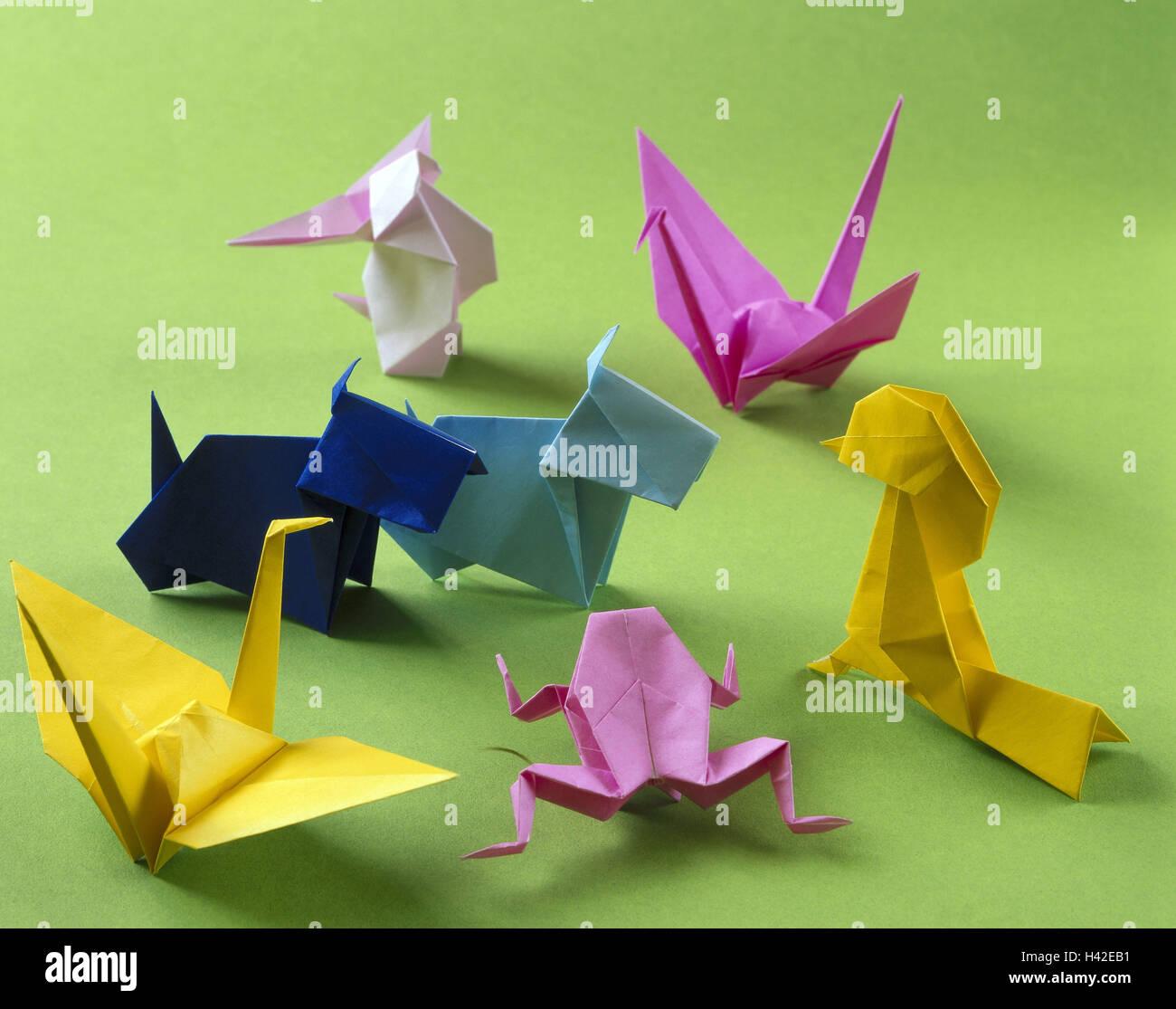 Origami Die Japanische Papierfalten Kunst Tiere Anders Bunt