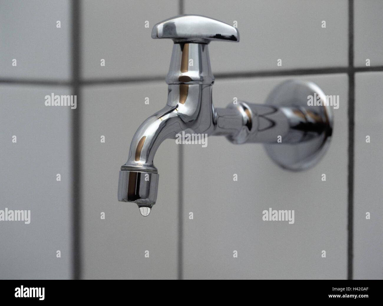 Fliesen-Wand, Detail, Tap, Tropf, Bad, Waschküche, Wand, Fliesen