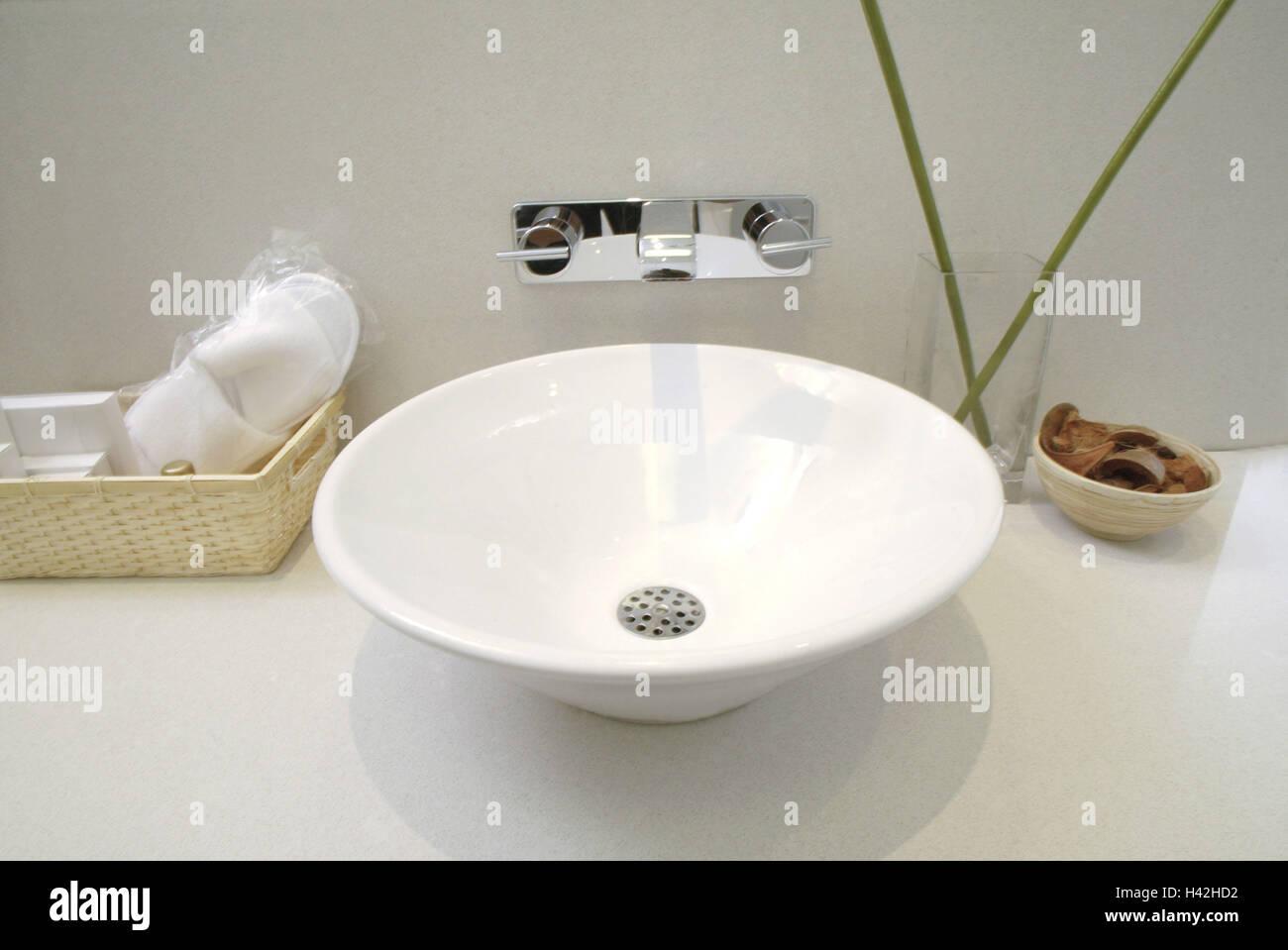 Badezimmer Waschtisch Spule Armatur Dekoration Bad Blumen
