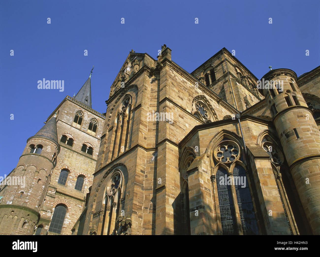 Deutschland, Rheinland-Pfalz, Trier, lieber Frauenkirche, Kathedrale, Fassade, detail, Europa, Stadt, Kirchen, Kirche, Stockbild