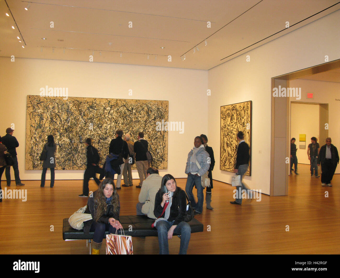 USA, New York City, Manhattan, MoMa, Ausstellung, Künstler Jackson ...