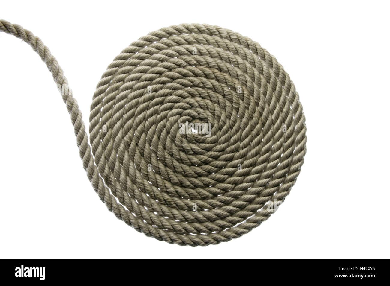 Tau, aufgerollt, Seil, Seil, Symbol, Verbindung, Verbindung, Union ...