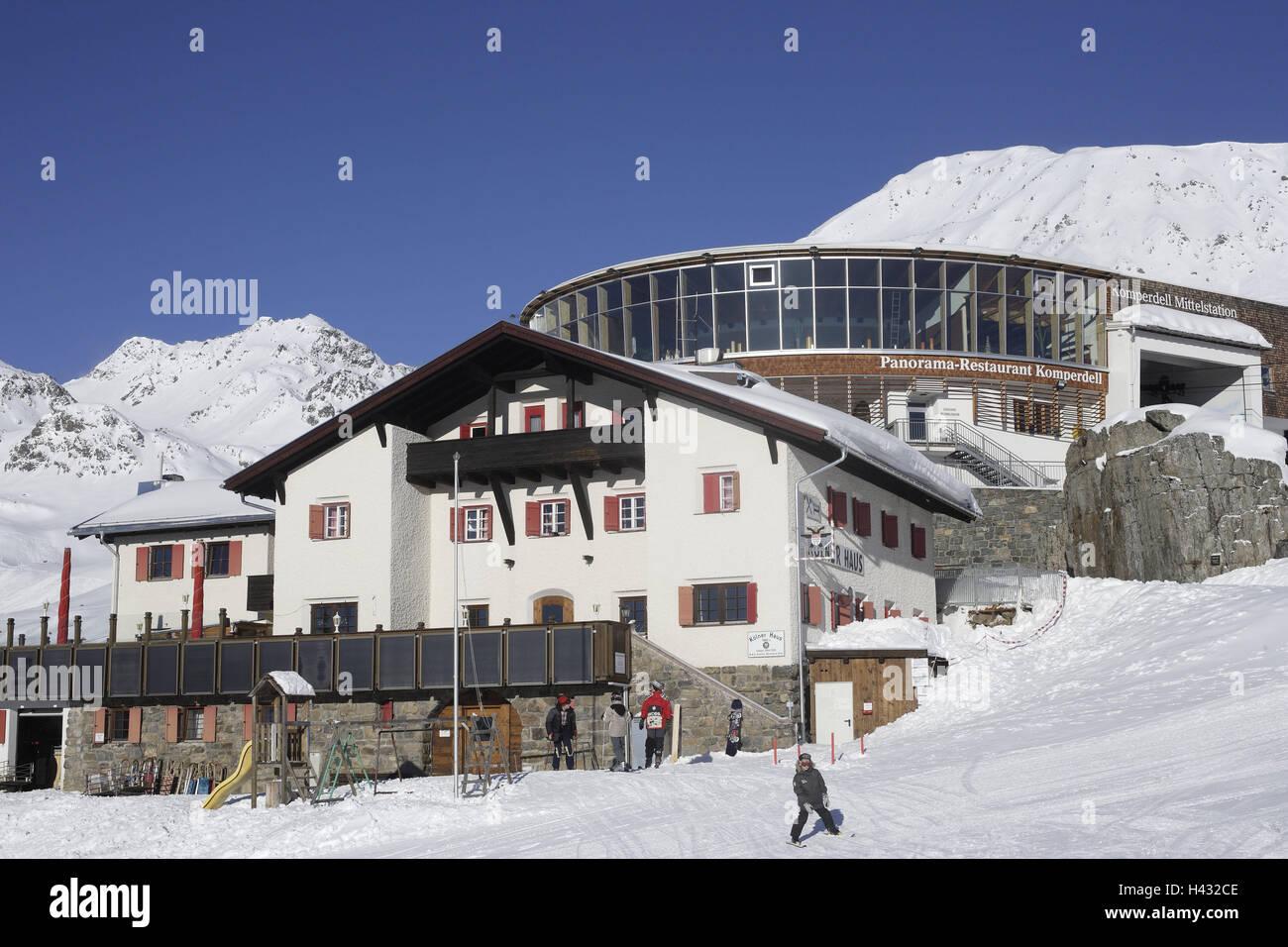 Osterreich Tirol Serfaus Komperdell Kolner Haus Panorama