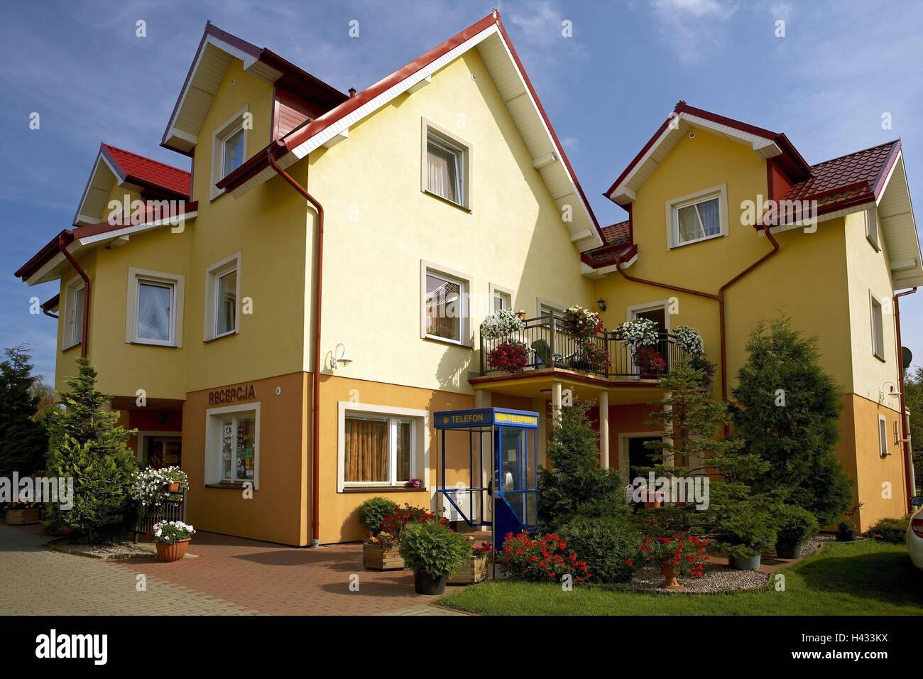 Poland Pomerania Leba Camping Site Stockfotos Poland Pomerania