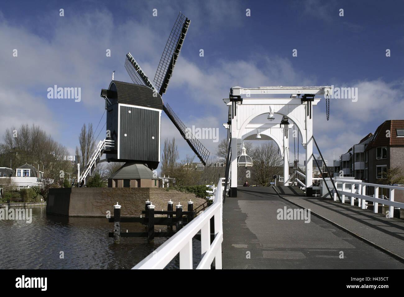 Den Niederlanden, Beschwerden, Windmühle, Galgenwater, Stockbild