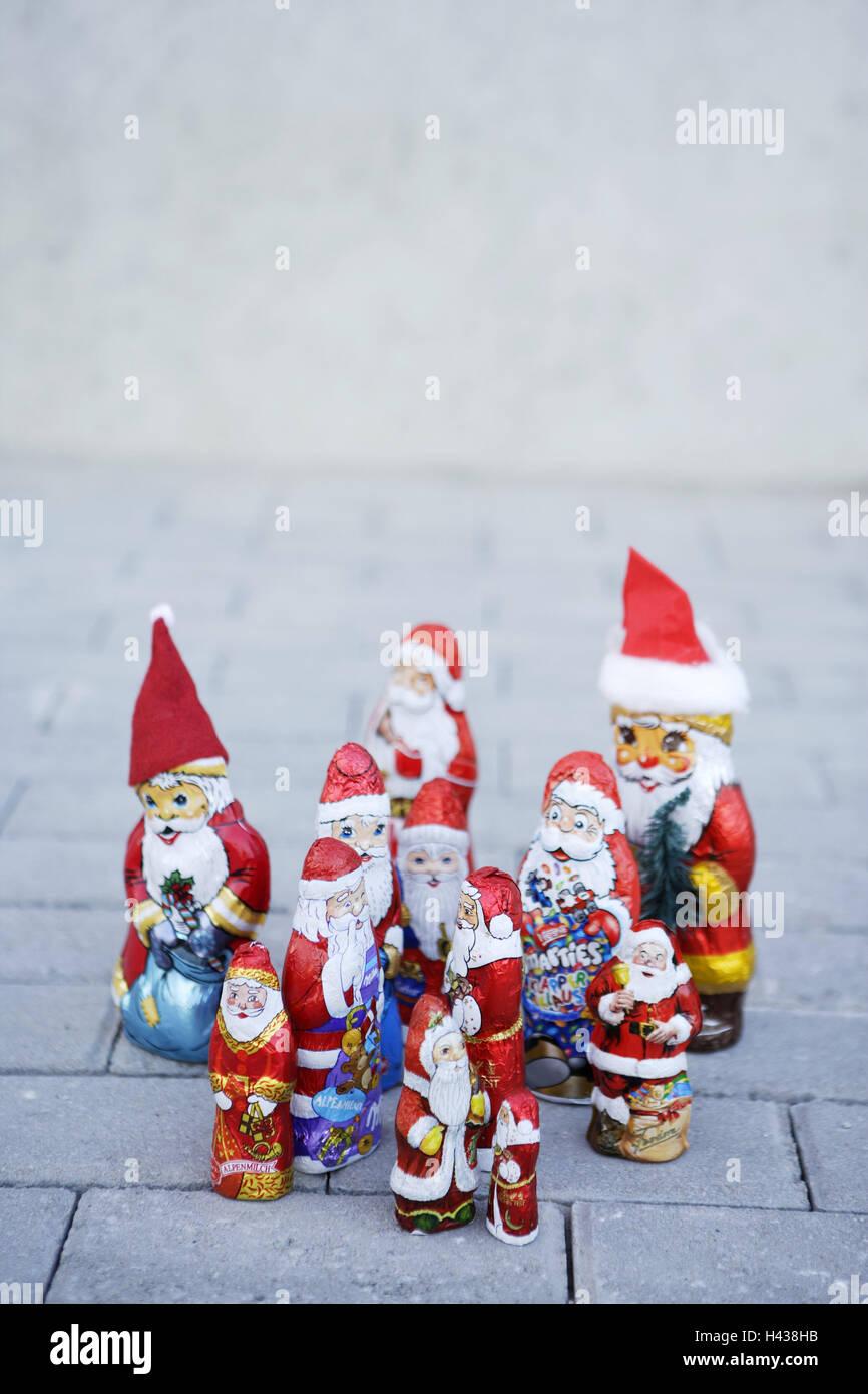 Weihnachten Artikel.Pflastersteine Schokoladensantas Weihnachtsmänner