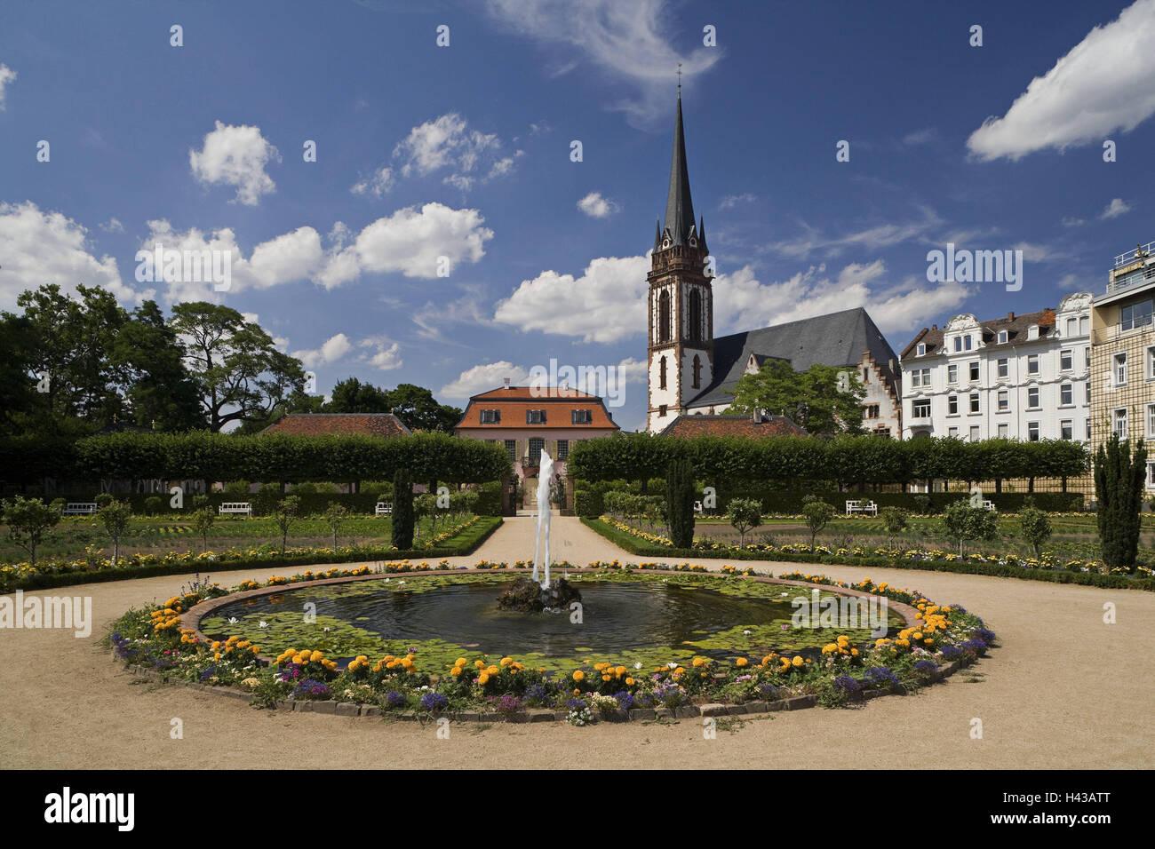 Deutschland, Hessen, Darmstadt, Herrn Garten, gut, Kirche, St ...