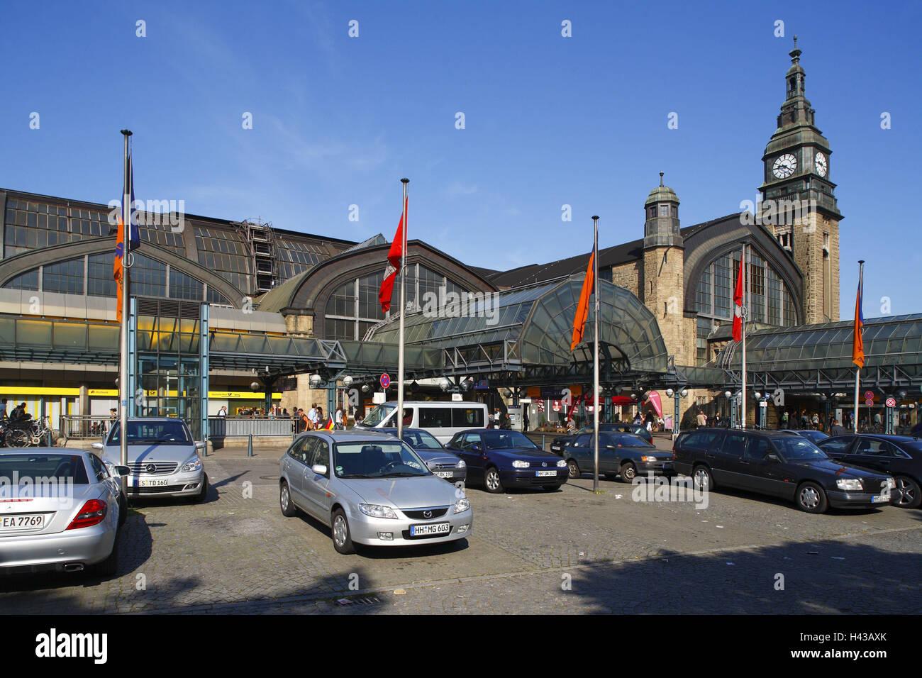 deutschland hamburg hauptbahnhof parkplatz stockfoto bild 123005643 alamy. Black Bedroom Furniture Sets. Home Design Ideas