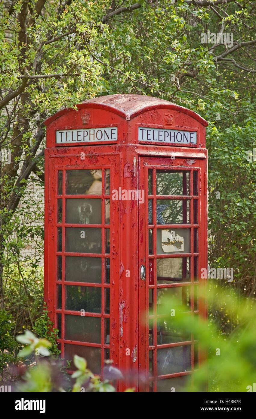 telefon box rot au en garten in englischer sprache. Black Bedroom Furniture Sets. Home Design Ideas