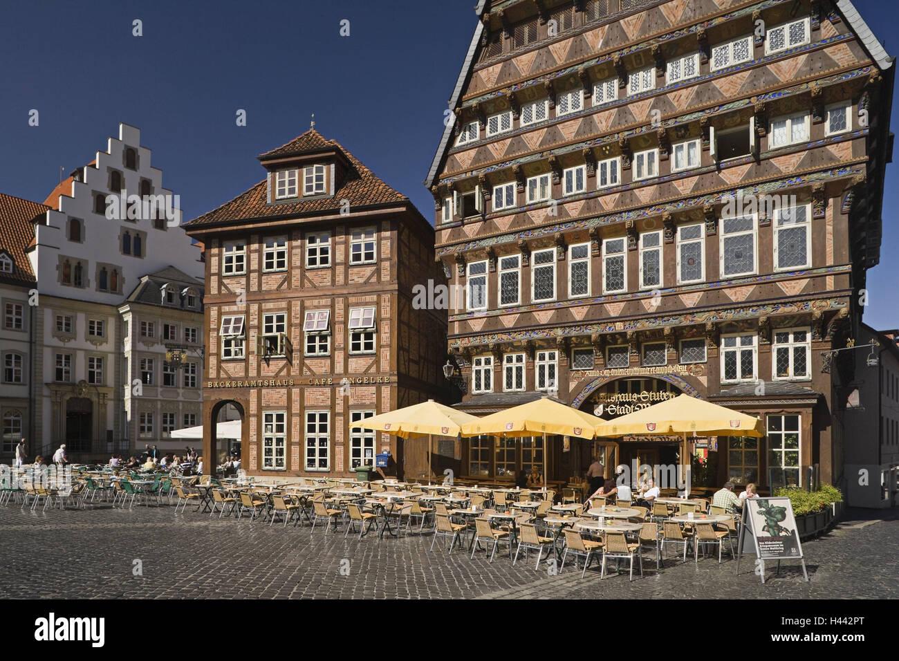 deutschland niedersachsen hildesheim metzgerei b rohaus b cker stra encaf s touristen. Black Bedroom Furniture Sets. Home Design Ideas