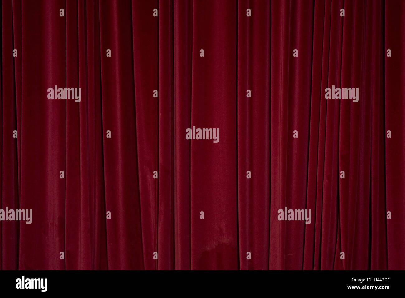 Vorhang Rot Geschlossen Samt Vorhang Vorhang Samt Drapierung