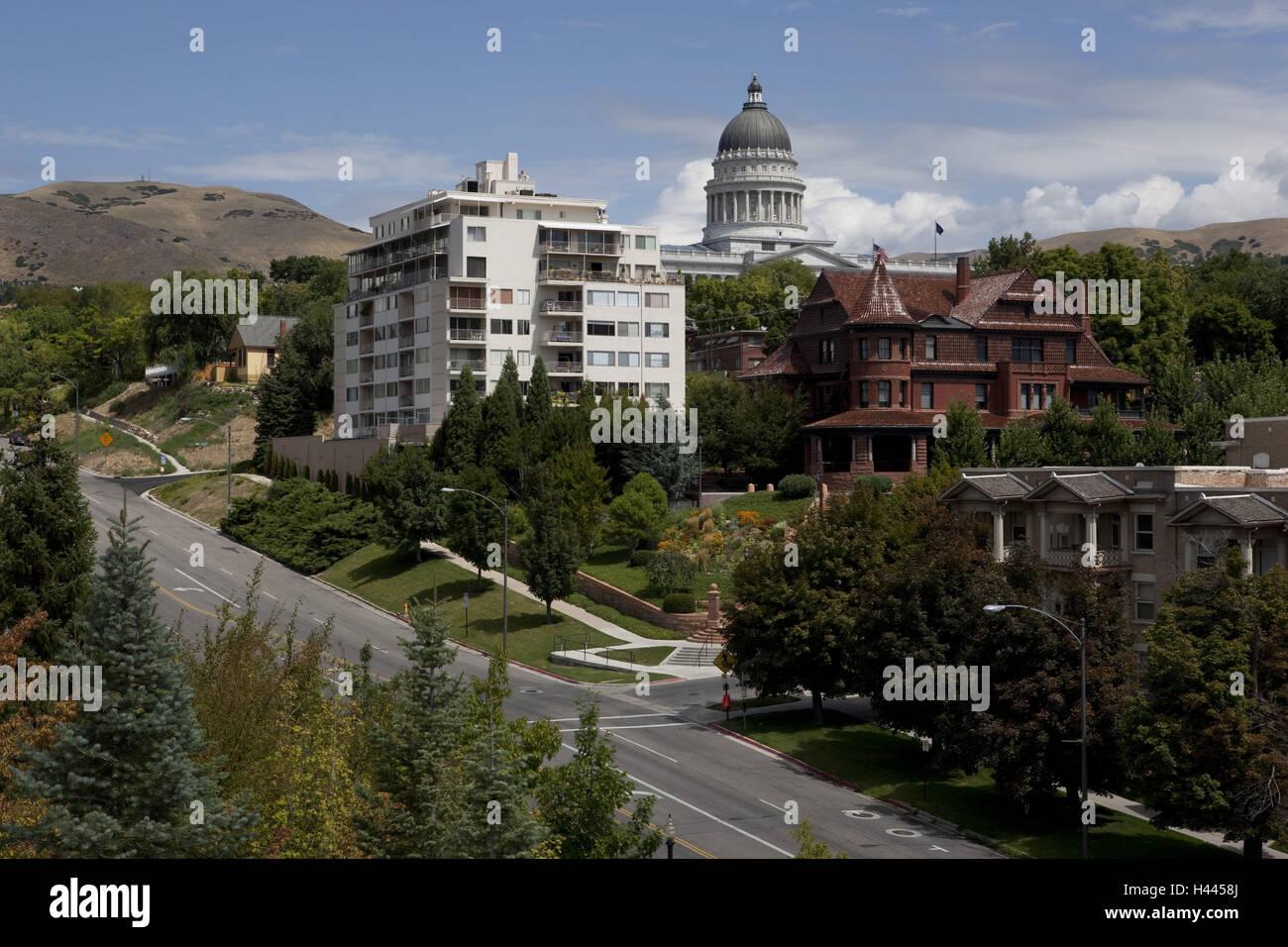 USA, Utah, Salt Lake City, Utah State Capitol Federal Capital, Stockbild