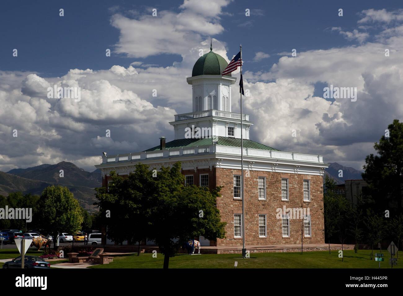 Die USA, Utah, Salt Lake City, Bundeshauptstadt der Mormonen, Rat Klang, Stockbild