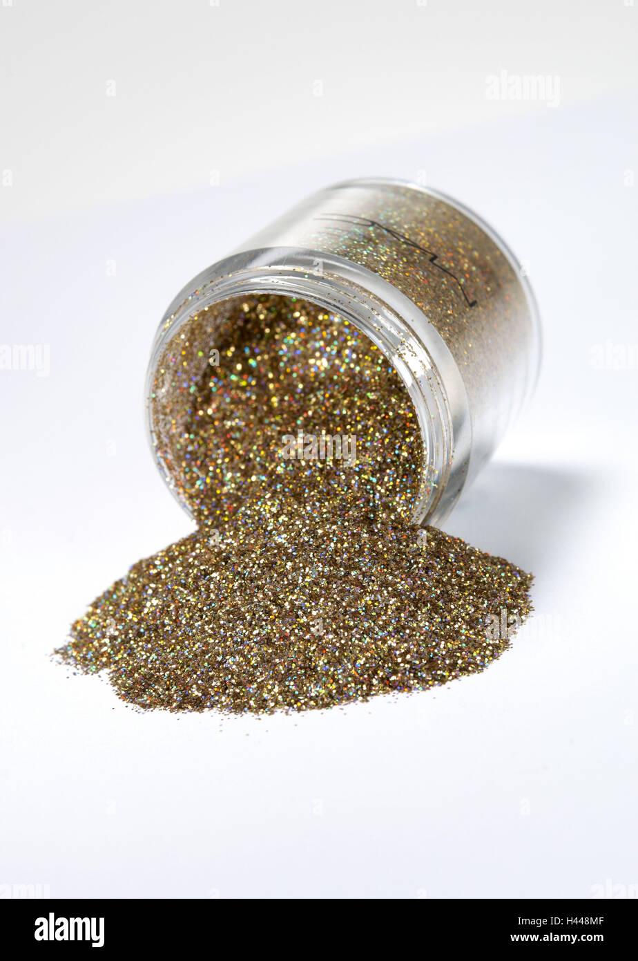 Zinkblume, Glitzer, Gold, Stockbild
