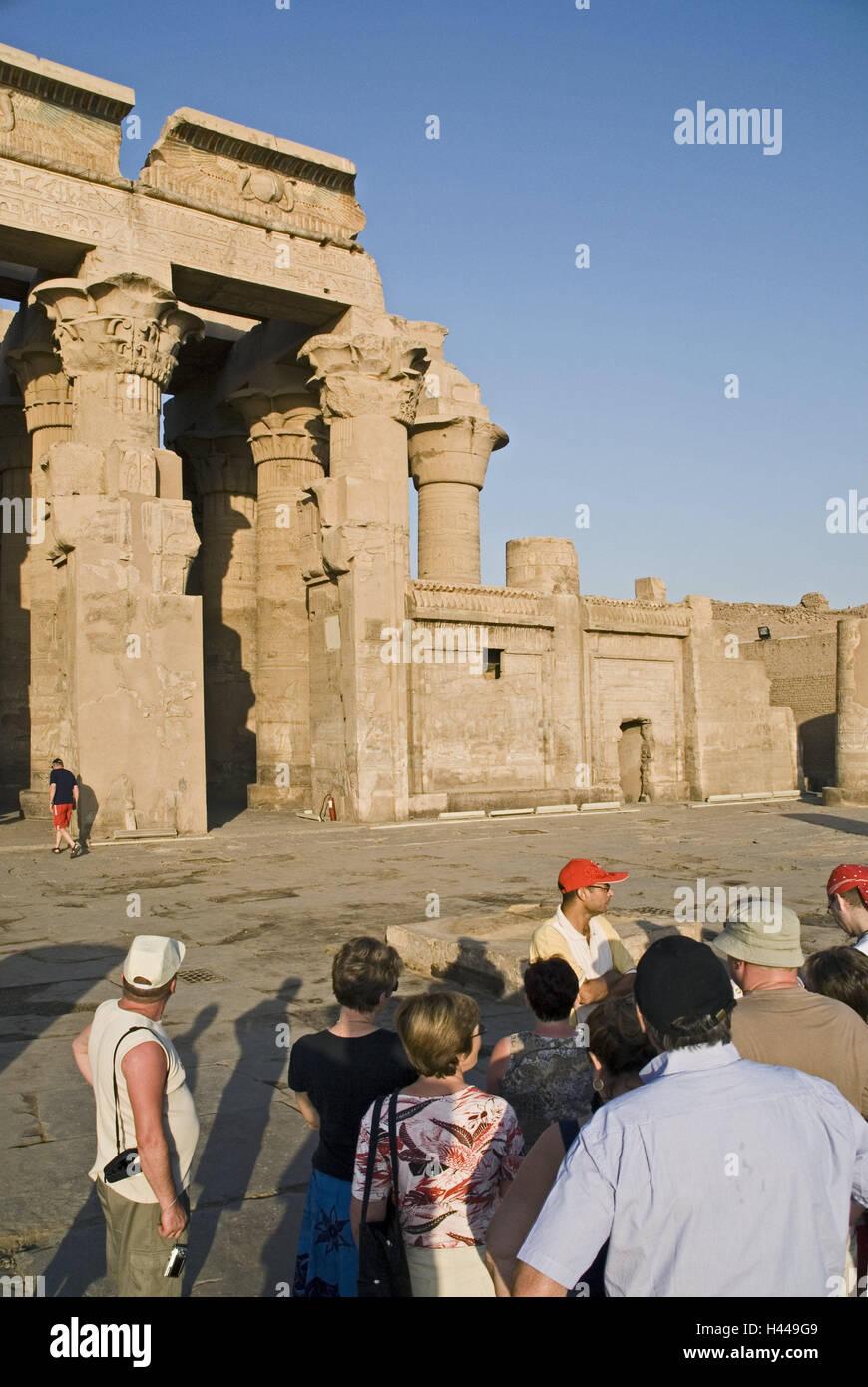 Ägypten, Kom Ombo, Doppel-Tempel, Tourist, Oberägypten, Kunst ...