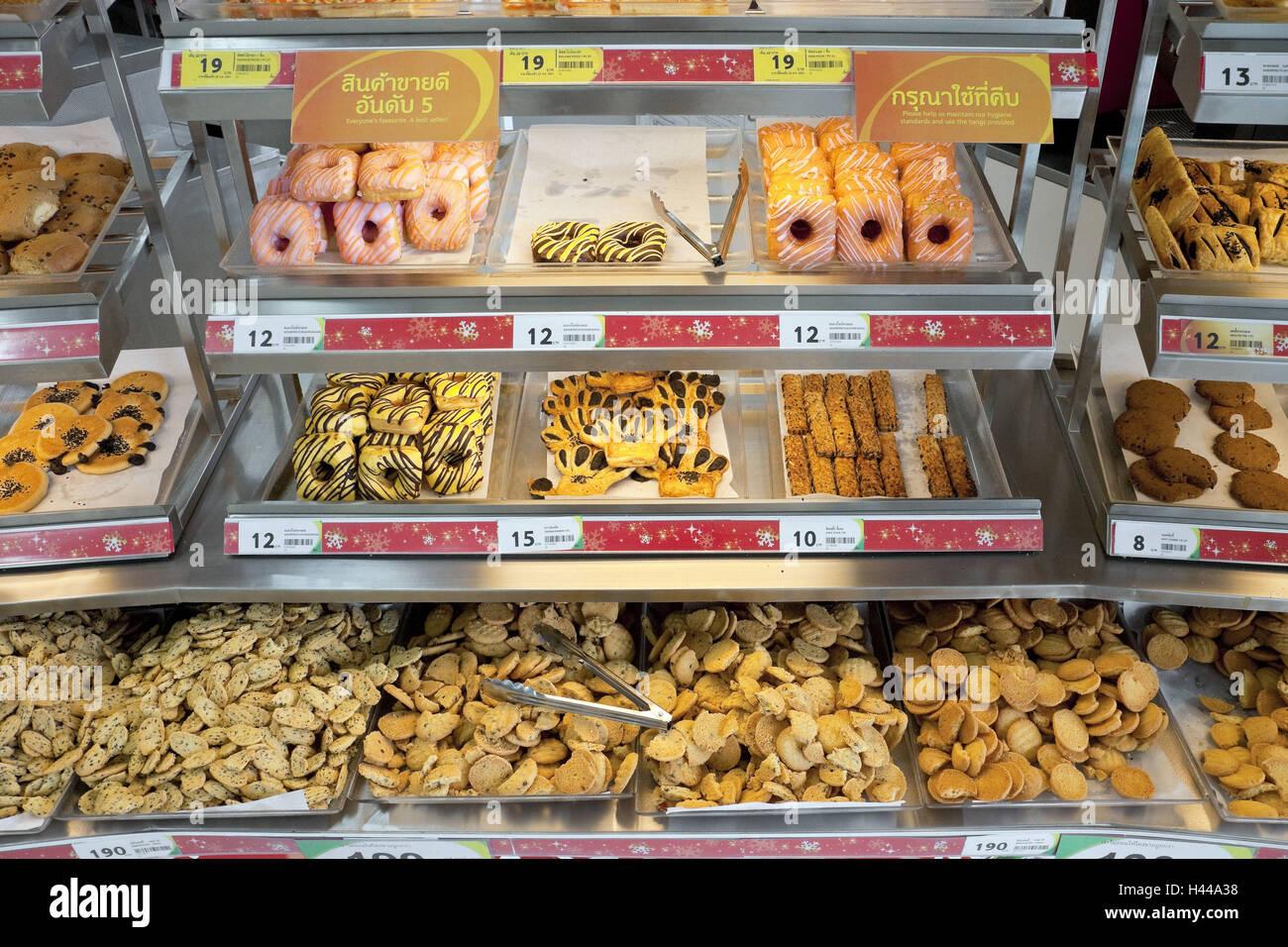 Asien, Thailand, Insel Phuket, Chalong, Supermarkt, Kosten, Kuchen Und  Gebäck,