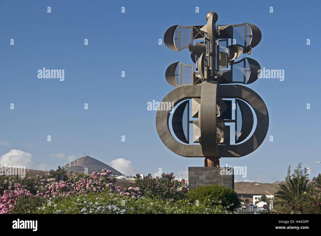 Kanarische, Inseln, Lanzarote, Arrecife, Flughafen, wind-Spiel, C. Manrique, Hauptstadt, Park, St. Kunst, Kunstobjekt, Stockbild