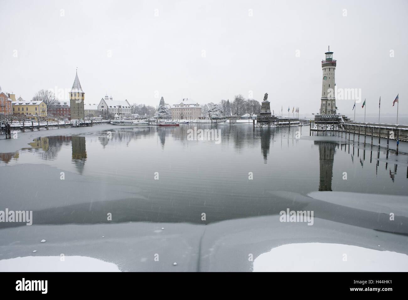 Lindau Bodensee Hafen Winter Stockfoto Bild 123032869 Alamy