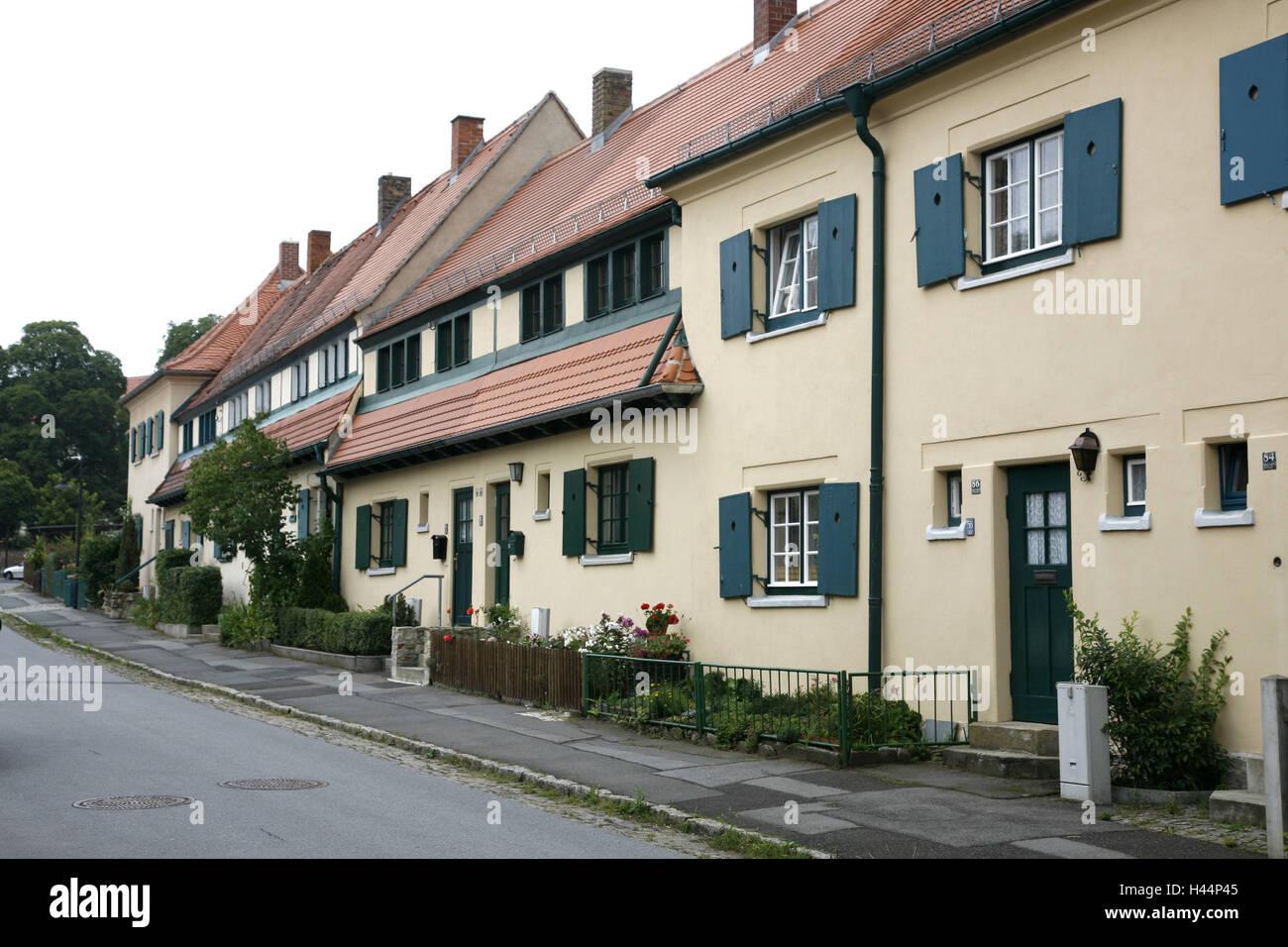 Deutschland, Sachsen, Dresden, Hellerau, Gartenstadt, Haus Linie ...