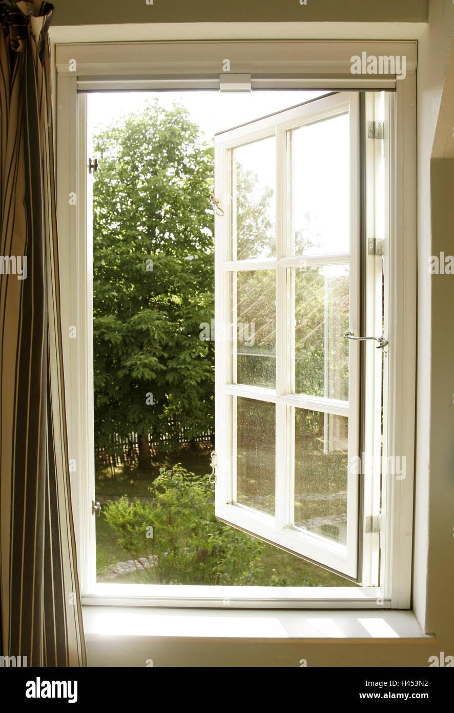 Fenster Geöffnet Sonnenschein Ansicht Landleben Wohnung