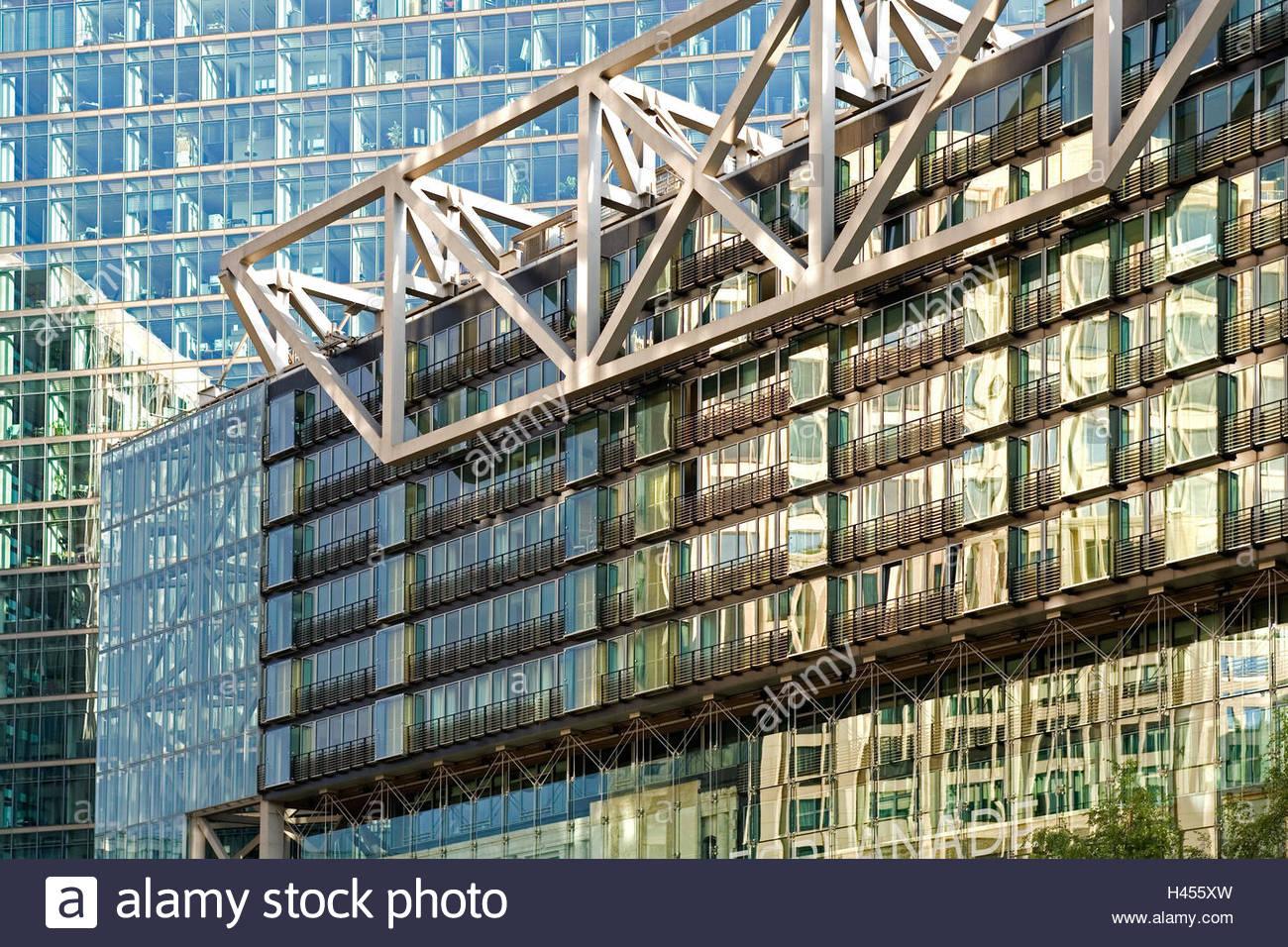 Häuserfassaden Modern bürogebäude glasfassaden reflexion wolkenkratzer fassaden