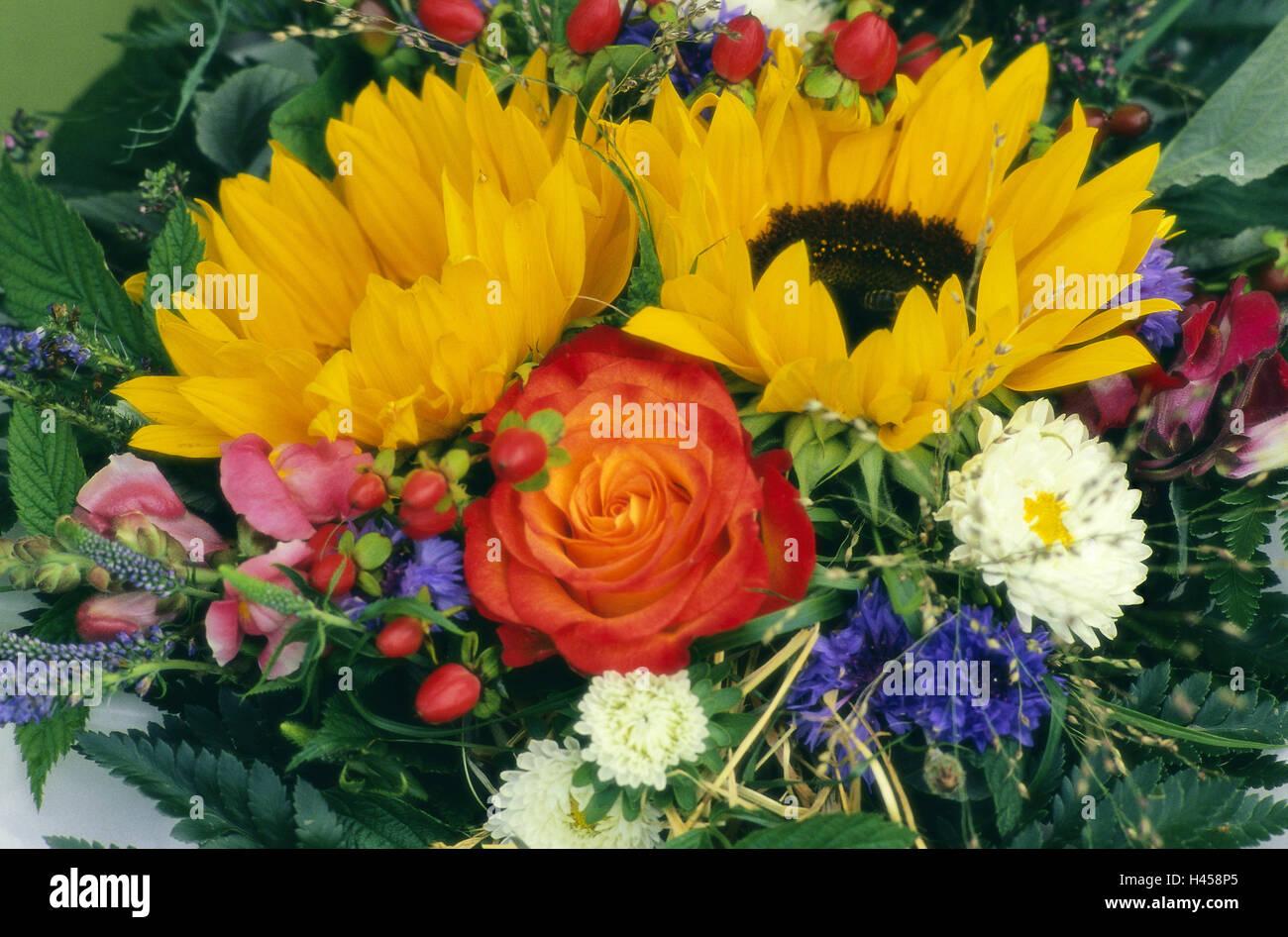 Blume Blumenstrauß, von oben, Detail, Blumen, Blumenstrauß, Rosen ...