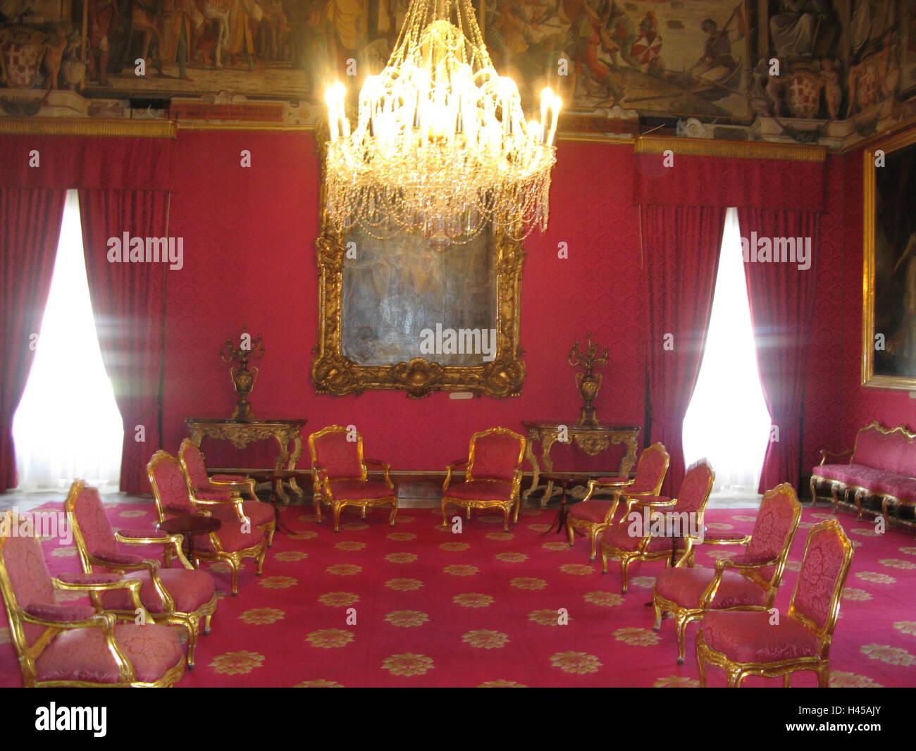 Malta Valetta Großmeisterpalast Rote Halle Insel Stadt