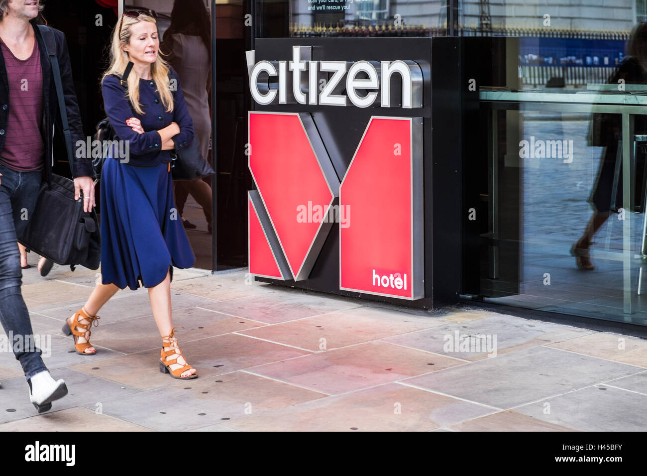 Citizen M Hotel Logo, London, England, U.K Stockfoto