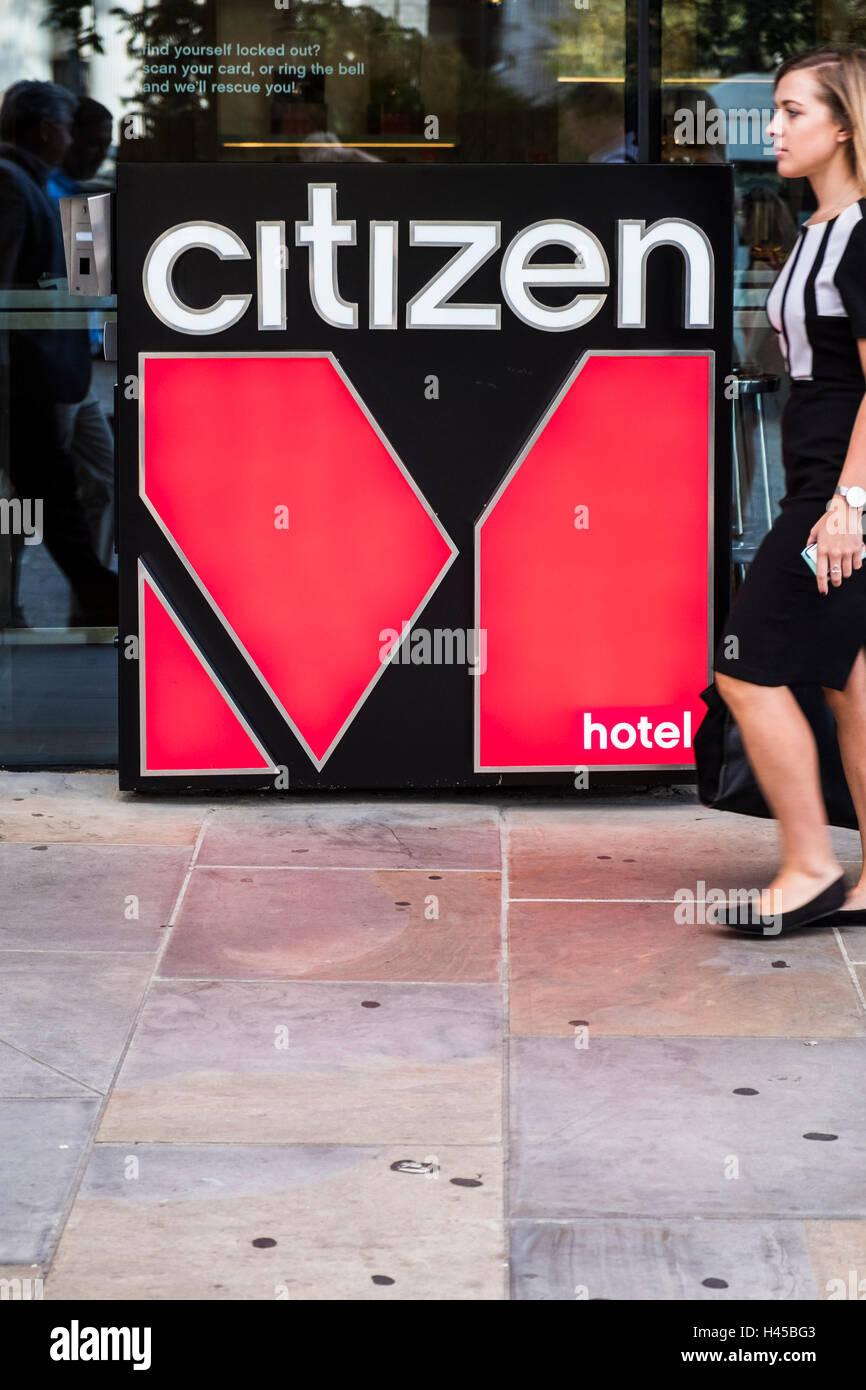 Citizen M Hotel Logo, London, England, U.K Stockfoto