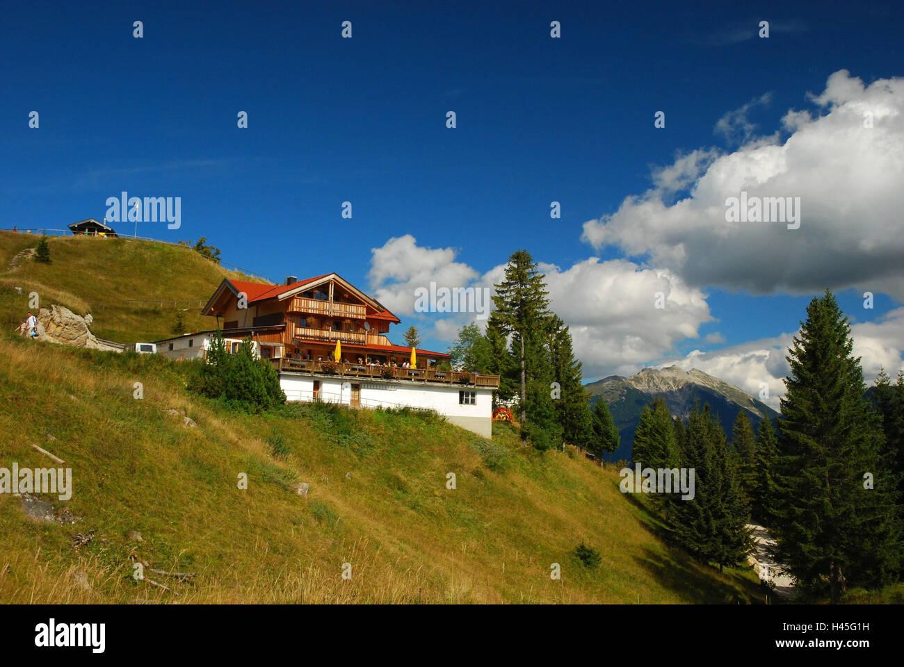 Deutschland, Bayern, Mittenwald, Kranzberg, Berggasthaus, Stockbild