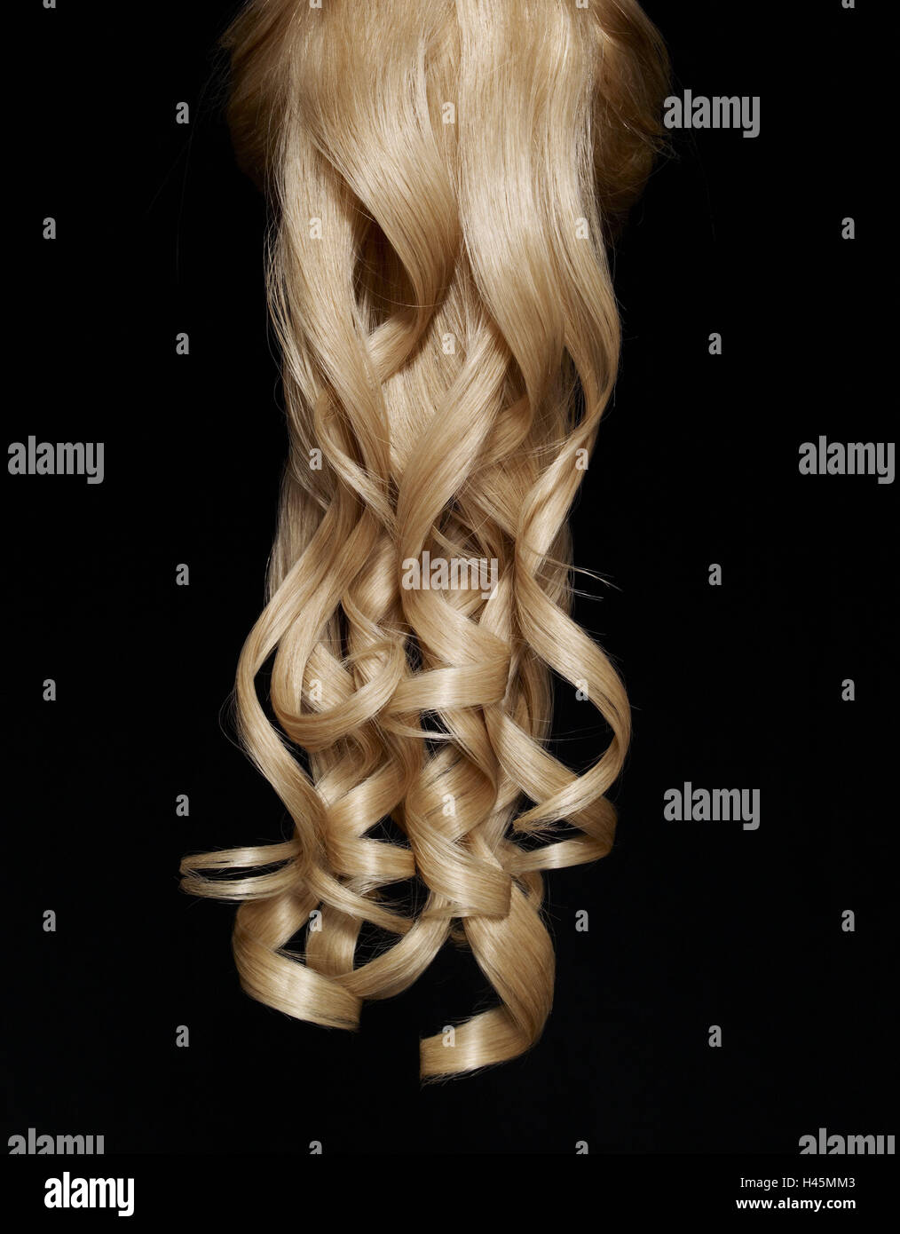 Haare locken lange schwarze 44+ Schwarze