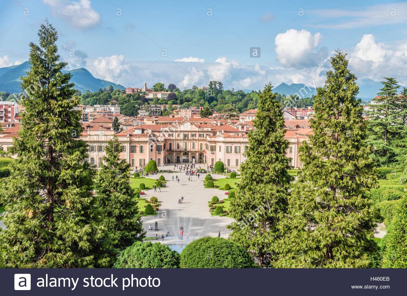 Varese Italien garten des palazzo estense im zentrum varese italien garten