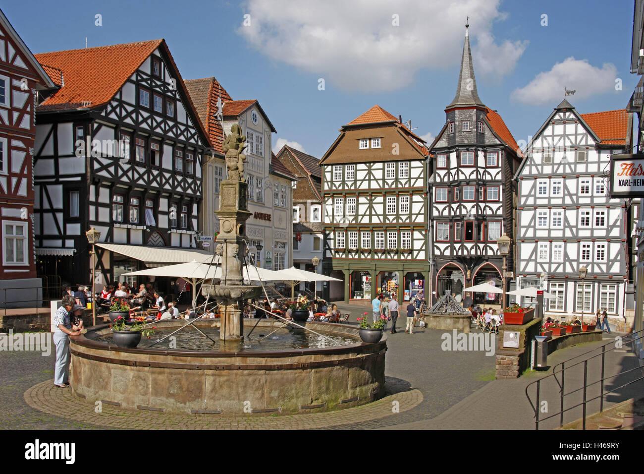 Deutschland Hessen Fritzlar Marktplatz Markt
