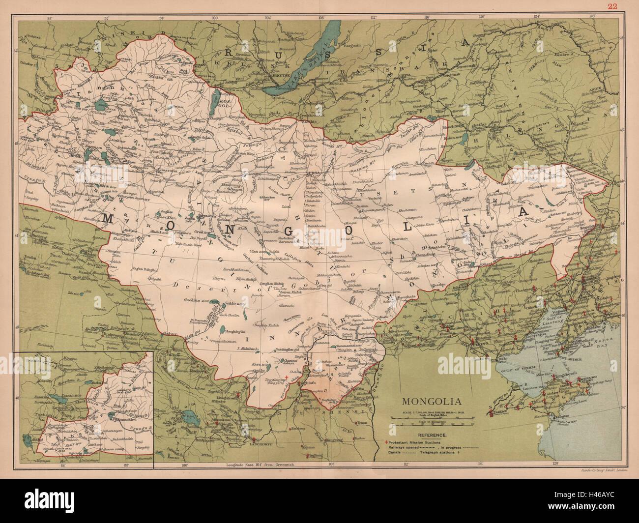 Chinesische Mauer Karte.Mongolei Zeigt Die Große Mauer Von China Peking Beijing C